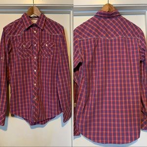 Men's Plaid Western Shirt